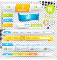 Web Elements Buttons and Labels vector image vector image