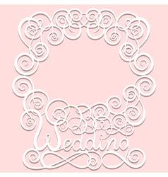 wedding paper pattern frame vector image vector image