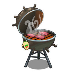 barbecue roasted meat on the grill outdoors vector image vector image
