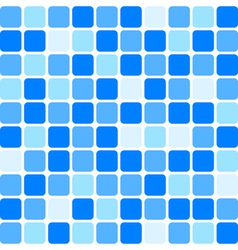 blue tile wall vector image vector image