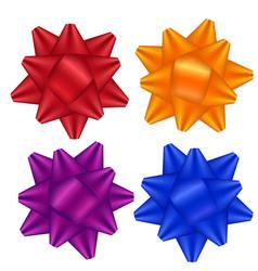 bow set satin ribbon beam vector image