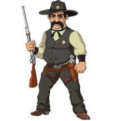 Cartoon sheriff vector image vector image