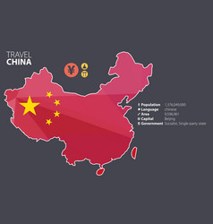 China world map with a pixel diamond texture vector