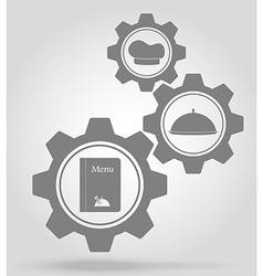 gear mechanism concept 20a vector image vector image