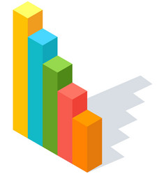 analyze statistical indicators business data vector image