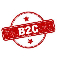B2c stamp round vintage grunge sign vector