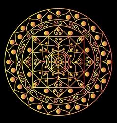Black mandala vector image