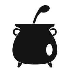 Boiled cauldron icon simple style vector