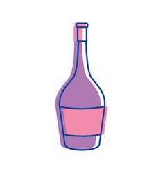 Bottle of wine tasty beverage icon vector