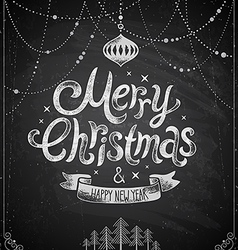 Christmas chalkboard card 2 vector