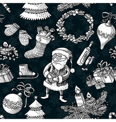 Christmas sketchy pattern vector image