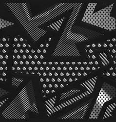 Chrome geometric seamless pattern vector
