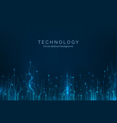 circuit board abstract computer technology blue vector image