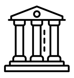 Courthouse icon outline style vector