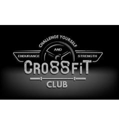 crossfit emblem in vintage style vector image