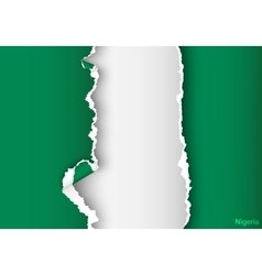 design flag nigeria from torn papers with shadows vector image