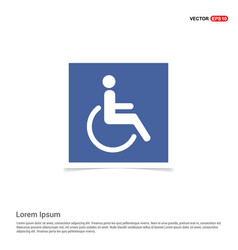 Disabled person icon - blue photo frame vector