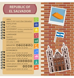 El Salvador infographics statistical data sights vector image