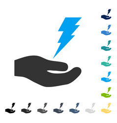 Electric service hand icon vector