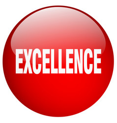 Excellence red round gel isolated push button vector