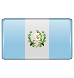 Flags Guatemala in the form of a magnet on vector