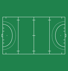 Flat green field hockey grass hockey field with l vector