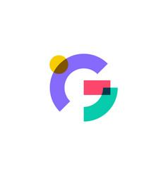 G letter logo overlapping color icon mark vector