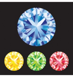 gemstones vector image