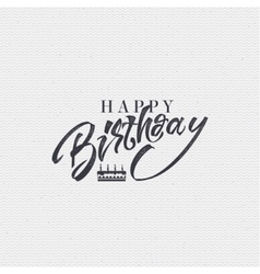 Happy birthday - card sticker can be used to vector image