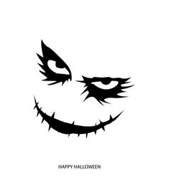 happy halloween mask background vector image