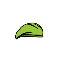 hat of military logo designs inspiration isolated vector image