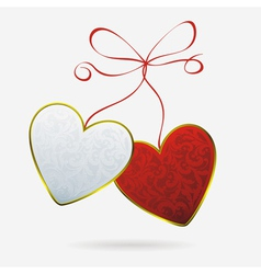 hearts bound vector image