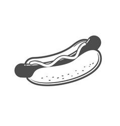 Hot dog line art vector