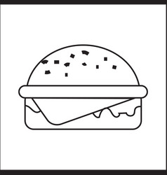 Icon depicting a hamburger a simple drawing vector