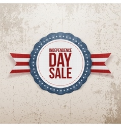Independence Day Sale realistic Emblem vector image