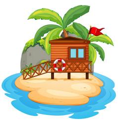 isolated resort island on white background vector image