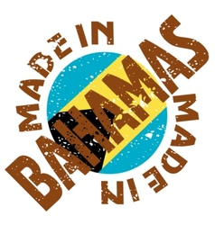 Label Made in Bahamas vector