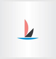 letter l boat icon logo vector image