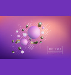 liquid splash geometric shapes vector image