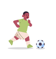 Little african american playing football vector