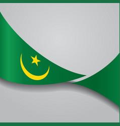 Mauritanian wavy flag vector
