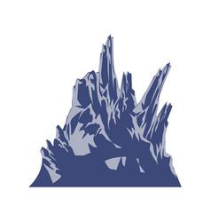 mountain peak hill landscape rock icon vector image