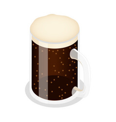 mug of brown beer icon isometric style vector image