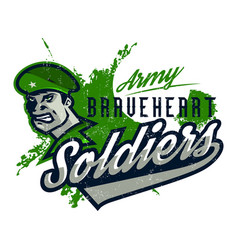 on a military theme soldier vector image