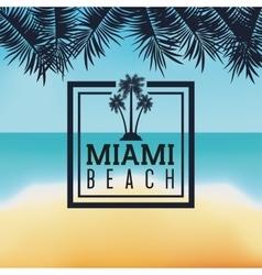 Palm tree icon Miami florida design vector