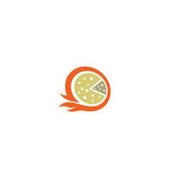 pizza delivery logo icon vector image