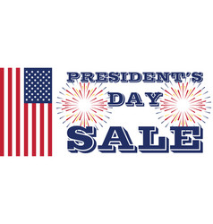 presidents day sale art with flag and fireworks vector image