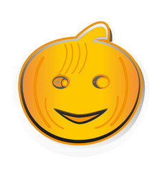 Pumpkin-stiker vector
