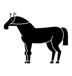 racing horse icon black sign vector image