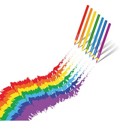Rainbow crayons vector